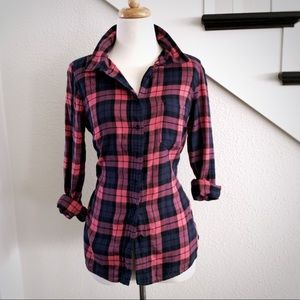Gap Fitted Boyfriend Flannel Shirt